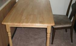 Whole wood dining table