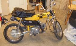 I have for sale two 1974 st 90 motorcycles , one is complete and the other is a project with a rebuilt motor . the yellow bike is complete with a variity of new parts and seat cover . the yellow bike runs real nice. considering these are going up all the