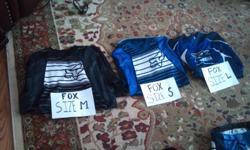 2 Youth MX pants (size 22), 1 Fox, 1 Thor Core ($15 each) 1 Youth Medium Black Fox Jersey ($10) 1 Youth Small Blue Fox Jersey ($10) 1 Youth Large Blue Yamaha Fox Jersey ($10) 2 Adult MX Pants (Size 34), 1 Fox, 1 Thor Core, ($20 each)