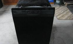 Black Kenmore Elite 665 dishwasher model #577, stainless inside, clean & in good working order. Recently moved and have all appliances. Call in Barrie 705-726-2894 days or evenings to view.