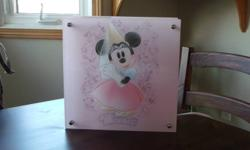 Disney Minnie Mouse Lamp in working order and new condition. From smoke free home. Located in Niagara Falls.