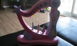 Disney Princess Musical Harp Takes 4 AA batteries (included) Strum the harp and see the Disney Princesses go up and down Great condition $10 Can meet in west end of ottawa (kanata) or pickup in Constance Bay