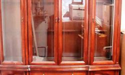 Cherrywood display cabinet, excellent condition. $500.00 o.b.o 705-426-9751