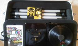 Hi I'm selling my dj hero renegade and need it gone fast I'm selling it for $150 O.B.O I paid $250 for it new it comes with caring case that turns into a stand, game and the turn table also comes with 2 cds the cds have been used so they are scratched but
