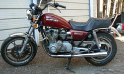 Vintage 1982 GS550L in very good original condition. Would like to trade for an old Goldwing or $1000.00 cash. Contact Bill for details.