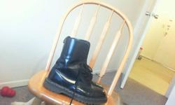 Genuine Doc Martins size 8 1/2  men's  My brother lives in Sudbury I can make arrangements