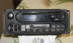 for sale dodge caravan am-fm,cd,cassette deck ,  fits 2004 to 2007 only, asking 45.00 call 626-2424
