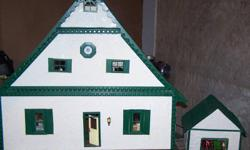 Homemade Chalet Style Doll House with garage, everything included. Asking $600/DIV> Garage is full of GOODIES !!!!!!