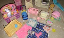 Everything in all the pictures is for this price. Everything is in great shape. This is good for a doll house.