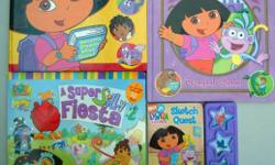 4 Dora books and two Dora cd's. All in excellent condition. From a smoke free home.