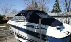 2002 doral bowrider. includes canvas top, tonneau covers, safety equipment, 3.0 merc I/O, 2005 easyload trailer, bottom clean as never left in water, resent tune up and records. Winterized, shrink wrapped and winter storage included in the price. Would