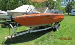 FOR SALE!!! An orange Doral 15 foot boat with a 1988 45 HP Mercury Outboard with power tilt and trailer. AS IS!   IN GOOD CONDITION! COMES WITH; Auto oil mixer Auto water pump Fish finder ? Only 2 years old 2 paddles 4 life jackets ? 2 adult & 2 kids