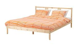 Bed frames from Ikea. Selling the double for $45, the twin for $35. Or both for $70. Slates included.