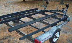 1996 Leland double seadoo/PWC trailer in great condition, new winches, bearing buddies, tonge jack. Located close to Midland asking $995 call 705-247-2156