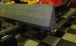 """Northtrail snowmobile trailer for sale. 110"""" wide. This trailer is equiped with 2 Super Clamps It also features new wiring and new lighting fixtures.. Good shape, ready for winter. Asking $1000. Please email or call 705-309-0491."""