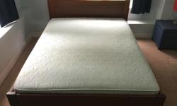 From a smoke free and pet free home. This bed has slats so only requires a mattress No box spring. It is in good shape and available now