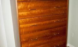Two identical drawer units 64 inches high 37 inches wide and 21.5 inches deep, constructed in cherry plywood and custom made by a seasoned Swiss cabinet maker. Each with 6 full extension drawers. Asking 450.00 each or best offer.
