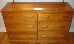 6 drawers, cinnamon colour.  Great condition.