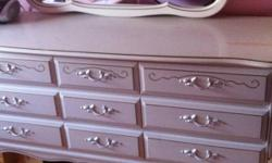 Dresser set for sale. Moving this weekend. Must go. Best offer. Includes two bedside tables, dresser, and tall dresser. Some damage from age on tops. Can be re-finnished. Buyer must pick up. This ad was posted with the Kijiji Classifieds app.