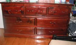 I have a dresser set, One long with 7 drawers. One Tall with 2 drawers and doors with shelves, also a side table with one drawer. All solid wood and in need of a place to go.