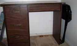 "Moving - must sell a dresser and matching small desk - dark wanlut finish The.dresser is 48' wide and desk is 36"" wide"