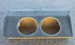 """Dual 12"""" sub box for sale! Custom built (by Visions) for a Trans Am that longer have. Im sure it can be used in any other vehicle. Can send more pics, as well if they arent clear or big enough on here. The dimensions are... Length is 36"""" Width 16.5"""""""