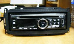 Dual deck for sale, asking 60$  it plays cd,wma, mp3, cd-r-rw, 200w, usb, and aux. it has a slot to plug in a usb right on the front, it will play music off the ubs and search files on the usb for music and other stuff. The USB port will also charge your