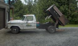 Make Ford Year 1976 Colour White Trans Automatic Selling SnowFlake, (she's white and dumps a lot) 1976 Ford 1Ton Dump Truck, runs good, a bit of rust, good tires