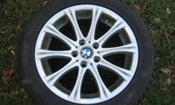Snow Tires from BMW 745i Rims and snow tires used for 1 season. BMW rims and snow tires. 245 50 R 18. Paid $3400.00 at the time. no longer have the car. Need to sell these tires.