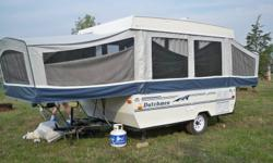 1997 Dutchman tent trailer , great shape very clean it has a 10 ft. box sleeps 7 , one king 2 double. Furnace also new tires.Not enough time to use it, must sell asap. asking $2,800 or best offer. No reasonable offer will be refused end of summer sale