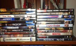 22 DVD's See Picture for list
