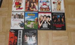 I am selling the following DVDs. They are all originals with their original cases/artwork. All DVDs work perfectly and most have only been watched once. See list or pictures for titles. Both are in alphabetical order. $4 each $35 for 10 TITLES: 40 Days
