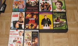 I am selling the following DVDs. They are all originals with their original cases/artwork. All DVDs work perfectly and most have only been watched once. See list or pictures for titles. Both are in alphabetical order. $4 each $35 for 10 TITLES: Just Add