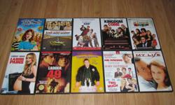 I am selling the following DVDs. They are all originals with their original cases/artwork. All DVDs work perfectly and most have only been watched once. See list or pictures for titles. Both are in alphabetical order. $4 each $30 for 10 $350 for all DVDs