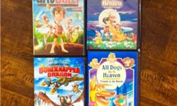 All sort of DVDs. Disney $5.00 others $3.00 See pictures and my other ads.
