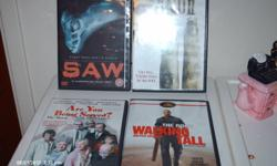 DVD'S : Saw, Saw 2, Are You Being Served?, Walking Tall  $5.00 ea.     Blue Ray : Jumping the Broom   $5.00
