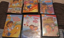 I have dvds for kids asking 3.00 each diego dora thomas super why casper