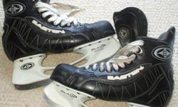For Sale;Easton `Ultra SBX` hockey skates. Adult size 7.5 D - with E bladeholders Stainless steel blades-Mint condition insert & lining. Stiff boot...$40.