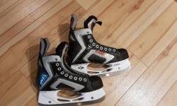 The skates were used for a half season and are in perfect shape. They are Easton 4.5 eek skates. Asking $30