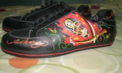 black brand new ed hardy shoes