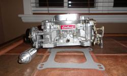 Hi selling my750 edelbrock fresh rebuild comes with fuel line and filter and
