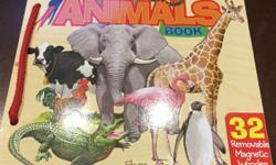 Illustrated T.S. Shure Animals wooden magnetic book is the perfect way of learning about animals. Colourfully detailed wooden book features removable illustrated wooden magnets representing many different animals. The animals wooden magnetic book is great