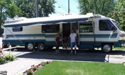 36' Class A Motor Coach, Eldorado R.V. Tag axle with air bags, oversize tires on front, new tires March '08 on Tag axle. Cruise control, 454 Gas Engine P30 chassis, 92000 miles. Full kitchen Beautiful interior Queen size walk around (island) bed, sleeps