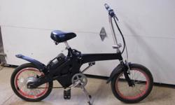 nice electric bike that folds up for trunk of car or rv. comes with helmet, charger, new batteries installed. batteries easy to get from interstate.[ k. c. auto] not the scooter style. new old stock. was never sold . rode a couple of times by me. keeping