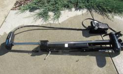 Good condition, like new! model no. 750 12/24 volt. 45 pounds of thrust. foot pedal. Brute motor