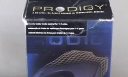 Tekonsha PRODIGY Brake Controller. The super sleek and modern design of the Prodigy stands out among all brake controllers. Tekonsha has made installing and using this brake controller simple and easy. Features:  - Applies power to the trailer brakes in