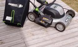 Earthwise model #50120 3 in one, rear bag, side discharge and mulch. Like new condition. 12 amp.