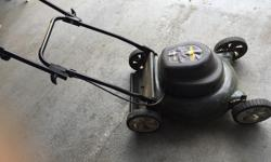 """cleaning up the garage! Yard Works Electric Lawnmower 19"""" 12A Cut and mulch Light Weight I will include a 100 feet extension cord. It comes with the bag (not shown on picture) Excellent condition (blades sharpened last fall)"""