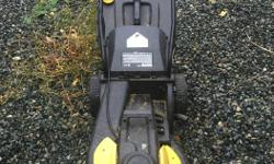 Good condition electric lawnmower. Works great. Has a bag to catch the grass, or run without it and mulch.