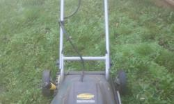 I bought this lawnmower at Canadian Tire. It works really well and folds up to fit in a small space. We just won't be needing a lawnmower anymore.